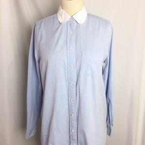 Coach Lt. Blue Button Down Shirt Long Sleeve sz 2